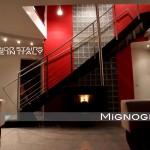 raffinata scala per ambienti ultra sofisticati e moderni, dettagli inox
