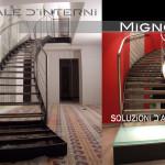 interior stairs. scala in costruzione e in ambiente abitato