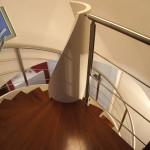 scala a chiocciola- detail sbarco al piano