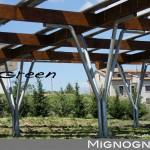 struttura  per fotovoltaico acciaio e legno lamellare