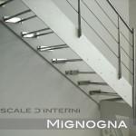 cosciali bianchi, gradini in vetro su struttura inox bullonati alla scala in acciaio 100/10, detail montanti ringhiera inox