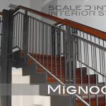 scala in acciaio e legno, detail cosciali lamiera nera 100/10 pantografata