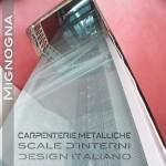 rivestimento in vetri temperato con fissaggio sistema ragni e alucobond alluminio per ascensore semi panoramico   nel pozzo delle scale storiche.