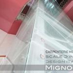 rivestimento in vetri temperato con fissaggio sistema a ragno per ascensore semi panoramico   nel pozzo delle scale storiche.