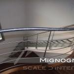 scala in acciaio lamiera 100/10 pantografata, ringhiera e corrimano balaustra montanti e tondini in acciaio inox