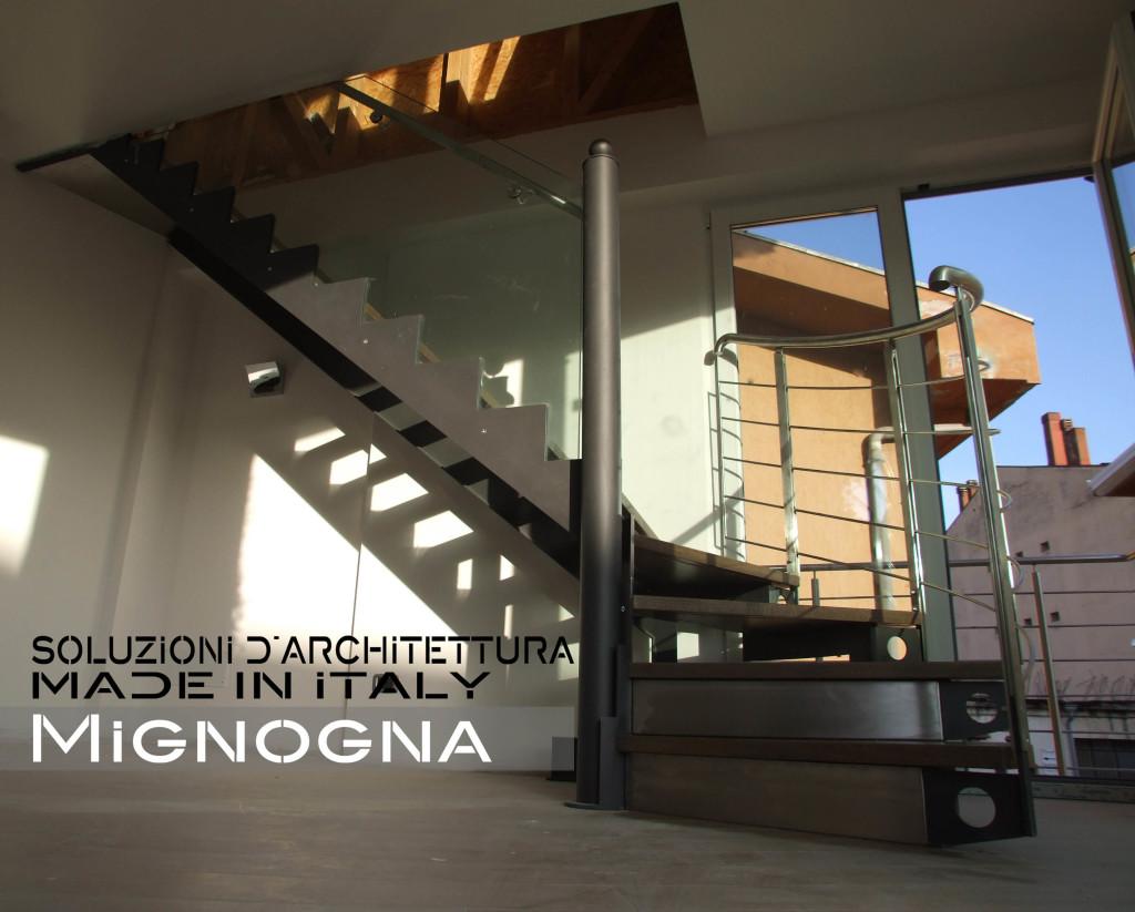 Acciaio nero e legno rovere scala fo2mignogna srl - Scale esterne chiuse ...