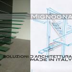 scala a sbalzo in vetro e struttura portante in acciaio rivestita in legno, disegni schizzi delle rampe a sbalzo