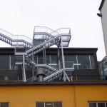 scala antincendio in acciaio zincato a caldo