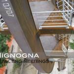 lavorazione in qualità di carpenteria metallica con processi tracciati e materiali marchiati