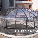 soluzione in acciaio e vetro e policarbonato