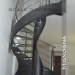 scala acciaio e vetro customizzatata per arredamento moderno