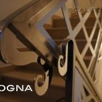 ringhiera in acciaio verniciato, corrimano inox - detail riccio barocco