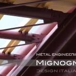 copertura palazzetto dello sport palaunimol capriate in tubolari in acciaio strutturale - dettaglio di collegamwnto