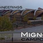 copertura palazzetto dello sport palaunimol capriate in tubolari in acciaio strutturale - vista esterna