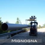 Montaggio e trasporto adduzione acquedotto tubature in acciaio