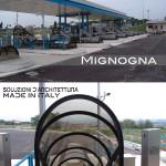 Cupolini di luce, copertura e raccordo per la stazione autostradale- struttura in acciaio  OS 18