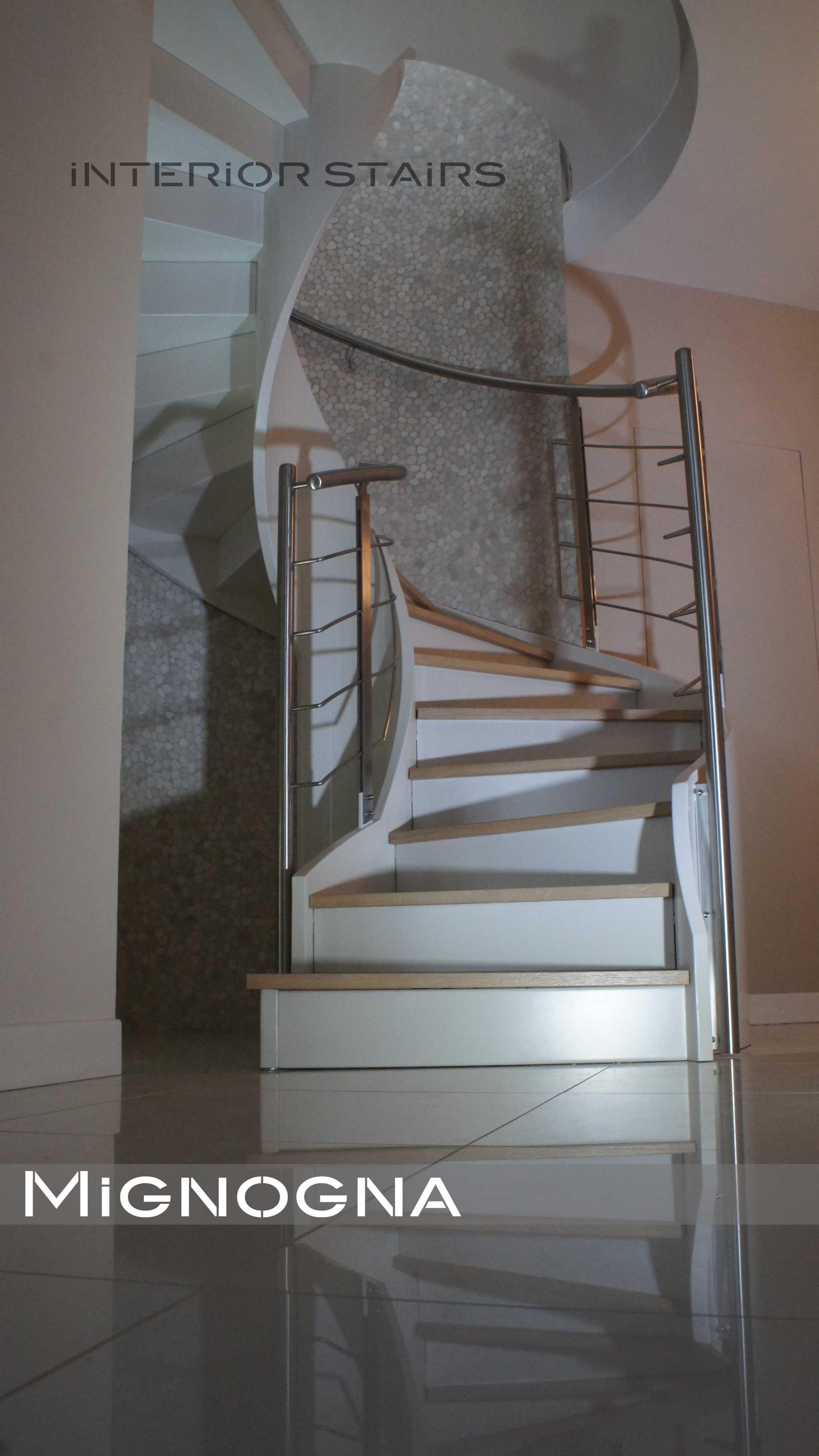 scala elegante, dettagli inox