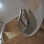 scala chiocciola elica vista dall'alto