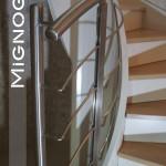 scala elica interna acciaio verniciato color bianco algida, ringhiera interna acciaio inox