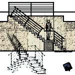 disegni di progetto scala in acciaio