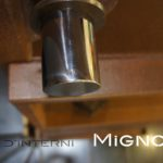 acciaio corten - dettaglio perno acciaio inox lucido